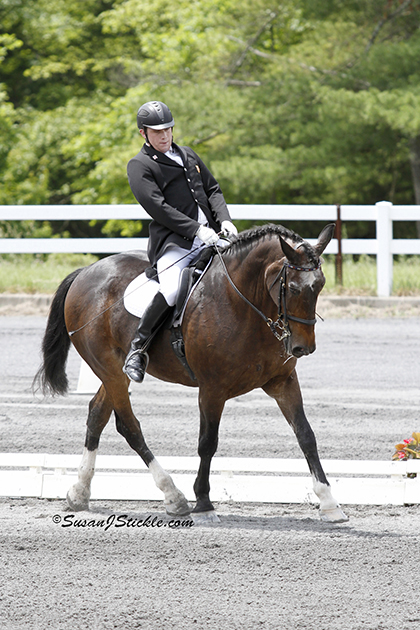 Photo Copyright Susan J. Stickle. Photo of Paralympian Jonathan Wentz and NTEC Richter Scale, the 2012 USEF Para-Equestrian Dressage National Champion. Photo is taken in Gladstone, NJ.