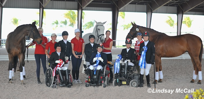 Canadian Para-Equestrian Team and Horses Photo (C) Lindsay McCall