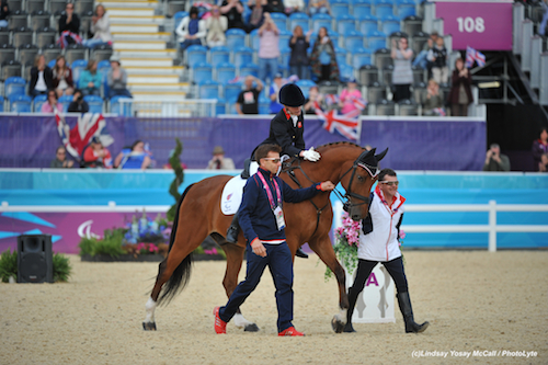 Clive Milkins (Right) with Sophie Christansen at the 2012 London Paralympics Photo by Lindsay Yosay McCall