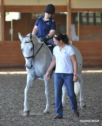Catherine Haddad working with Ellie Brimmer and Captiva Photo by Lindsay McCall