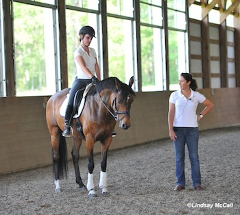 Catherine Haddad Staller helping Elle Wooley and P Sparrow Socks  Photo (c) Lindsay McCall