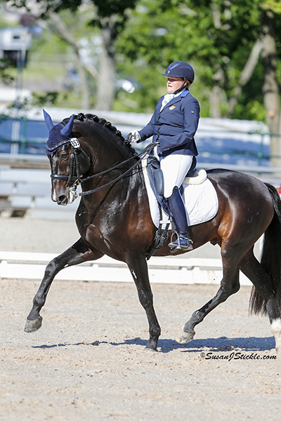 Susan Treabess and Kamiakin (PRE), owned by Scott and Katie Hill, earned the top Grade IV position. Photo copyright SusanJStickle.com. Photo is taken in Gladstone, NJ at  the 2014 USEF Para-Equestrian Dressage National Championship/ Selection Trial for the Alltech FEI World Equestrian Games™ (WEG).