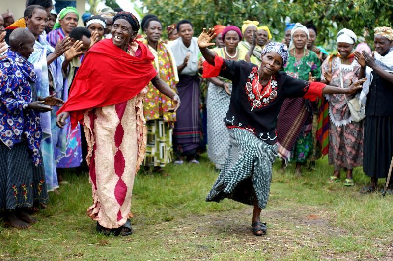 Dancing grannies
