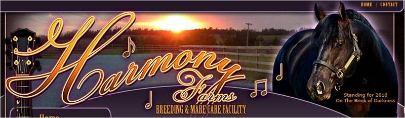 World Title Sponsor Harmony Farms Banner