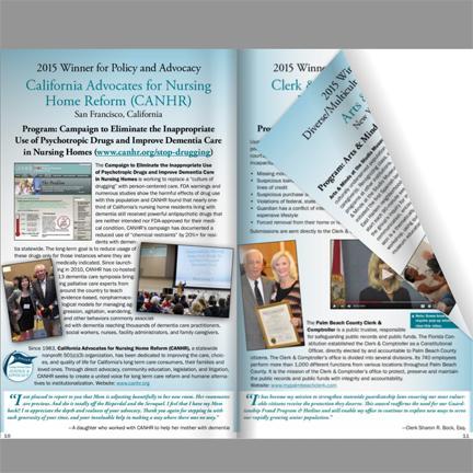 Gilbert Caregiving Legacy Awards online scrapbook