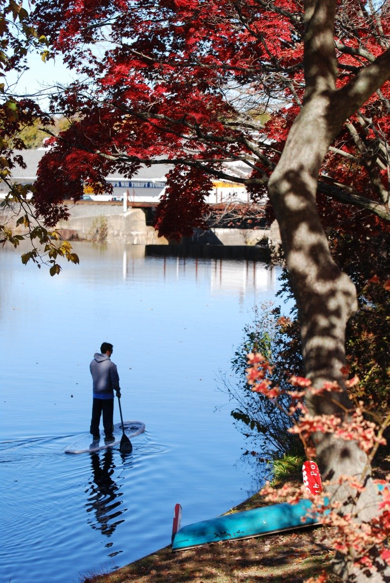 Milford SUP Silver Lake Autumn