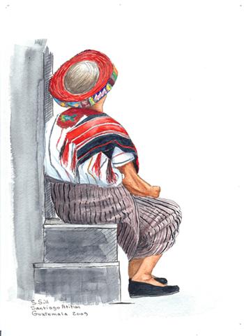 lady on steps / sue sill