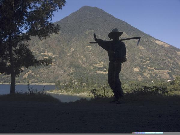 man walking volcano by david wells