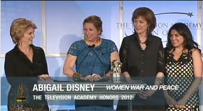 Women, War & Peace accepts the Television Academy Honors 2012