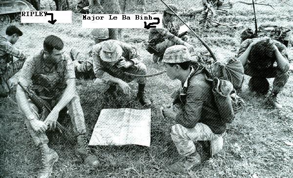 Capt ripley and Maj LA ba binh