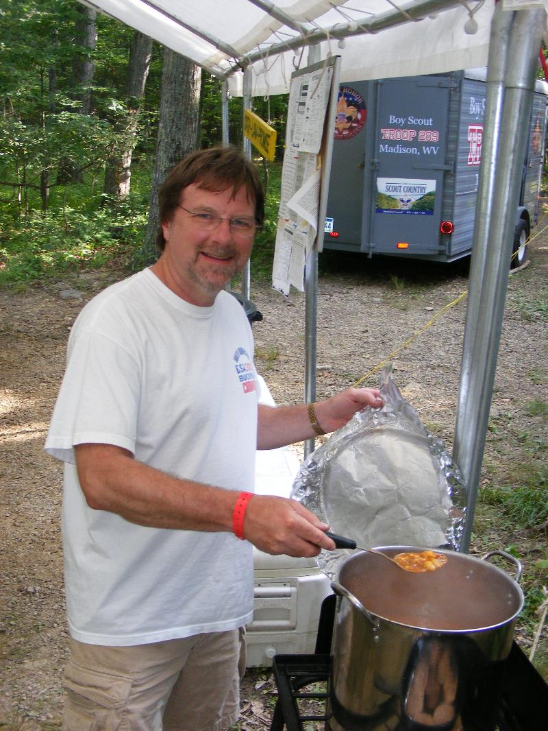 Mark Linville - Boy Scouts - cooking