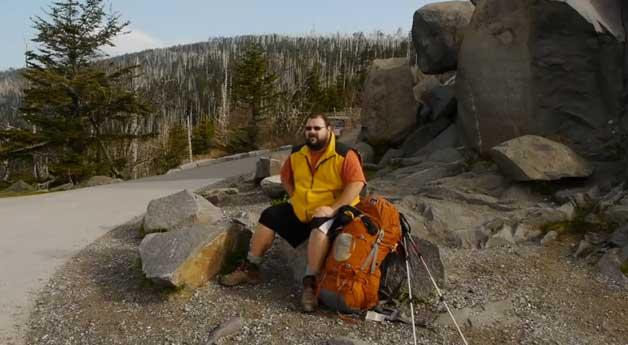 thomas foster at thru-hiker gary wilson