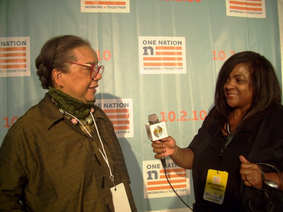 with Children's Defense Fund President Marian Wright Edelman