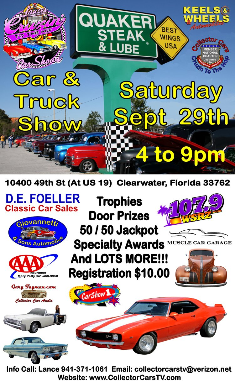 Lances Cruzin To The Hop Car Shows - Classic car show clearwater fl