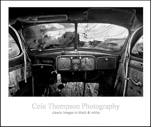 Old Car Interior Poster