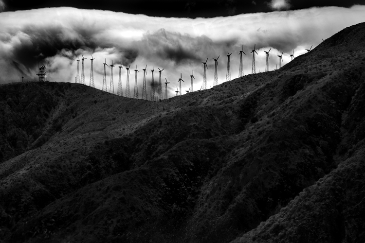 Windmills Against Clouds