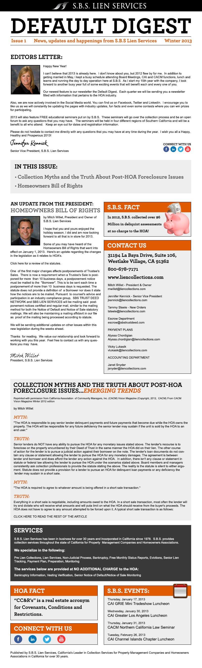SBS Newsletter Background