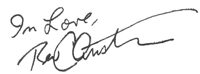 Christian's signature transparent
