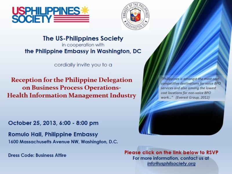 Reception for the Philippine BPO - Health Information