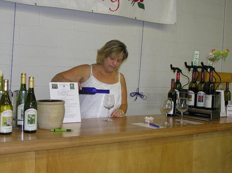 Kate in the Tasting Room