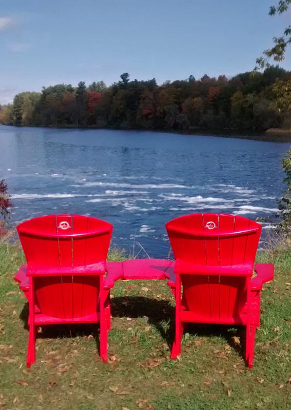 Red Chairs on the Rideau Canal