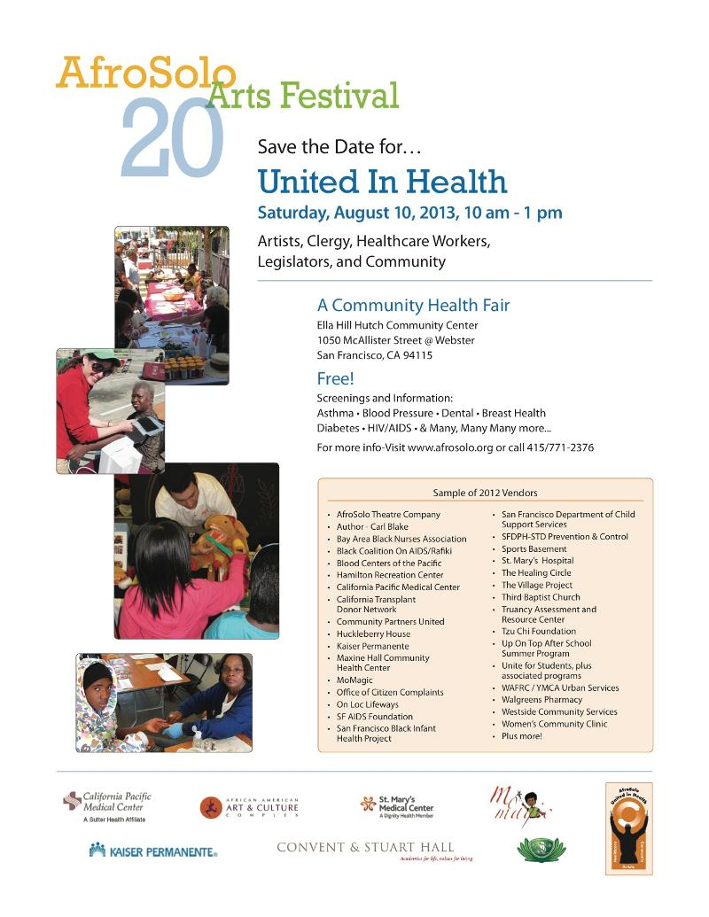 2013 United in Health - Save the Date