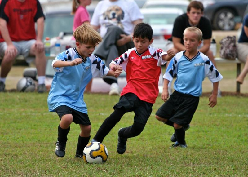 R.D. Action Shot of U8 Boys Fall 2010