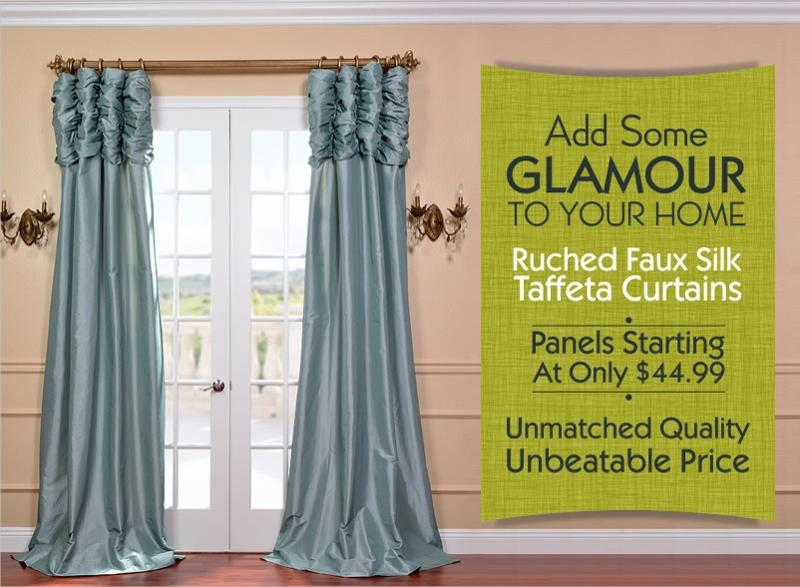 Exclusive Ruched Curtains Starting At Only 44 99 Per Panel