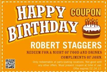 Important Customer Birthday Coupon
