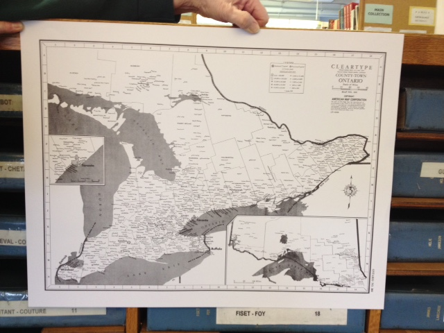 Map of Ontario