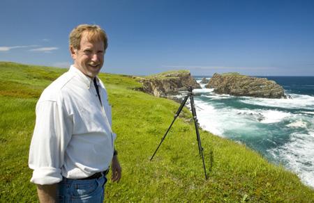 Randy at Elleson Point, Newfoundland