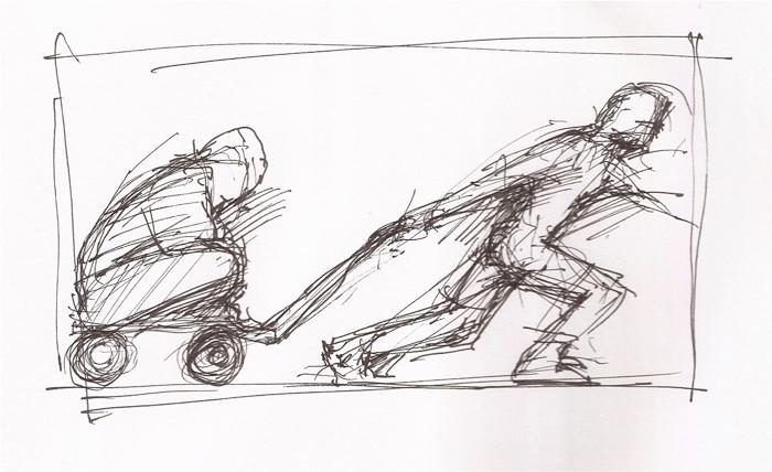 David Page Tether drawing