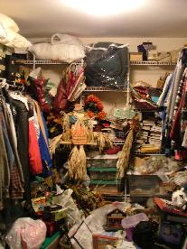 One Of Cluttered Closet
