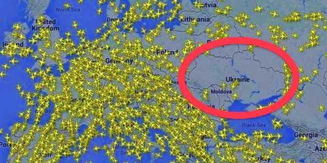 FlyersRights Hotline FLYERS - Map ukraine over us