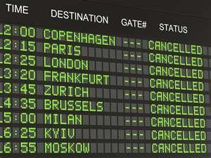 Cancelled Flight Board