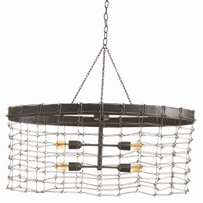Open Wire Link Shade Pendant