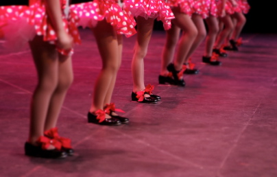 dancing feet on stage