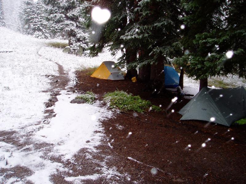 Colorado Snow Campsite