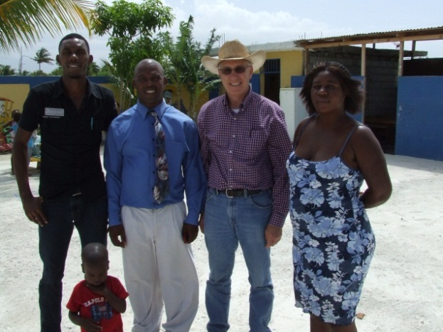 Dr. Lynn Brandenberger with his new friends at Foyer Des Enfants De Jesus