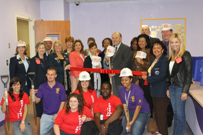 The Galveston Chamber of Commerce helped break ground on a new Parent  Liaison Room as part of Public School Week events