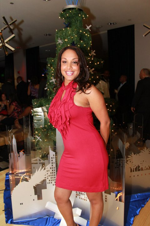 W Girl in Red Dress