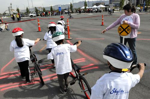 Bikes For Kids Utah The children receiving bikes