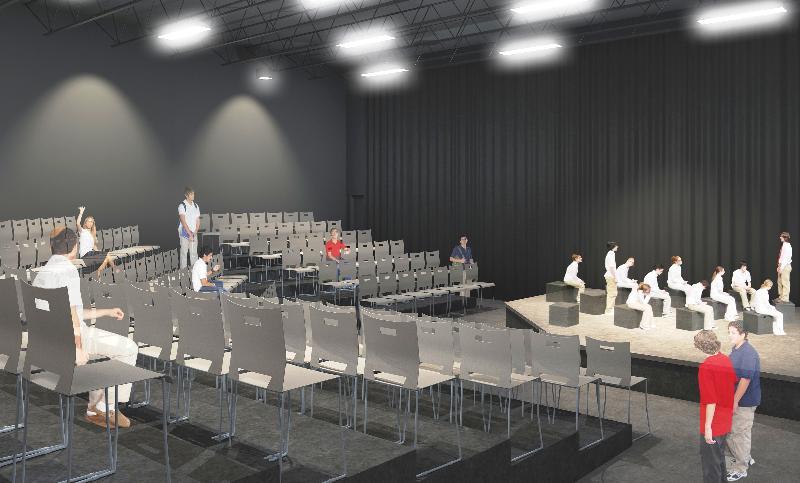 Rendering Sagemont's Black Box Theater