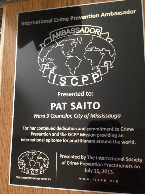 ISCPP Award received by Pat
