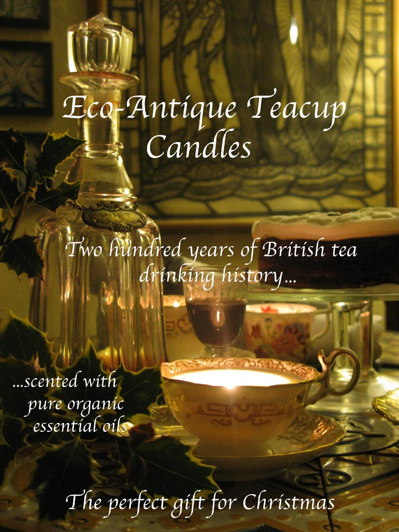 Season's Greetings from Eco-Antique Teacup Candles