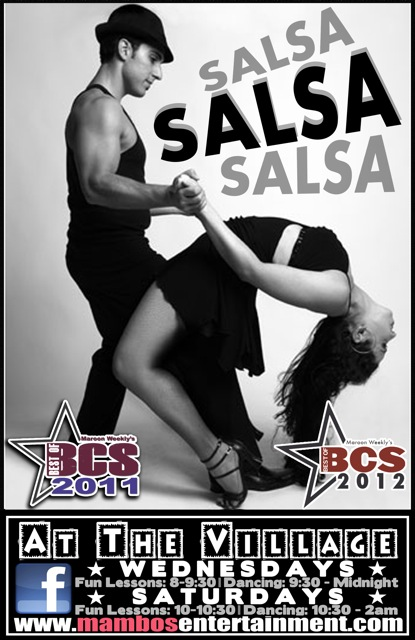 Salsa Wednesdays and Saturdays at The Village