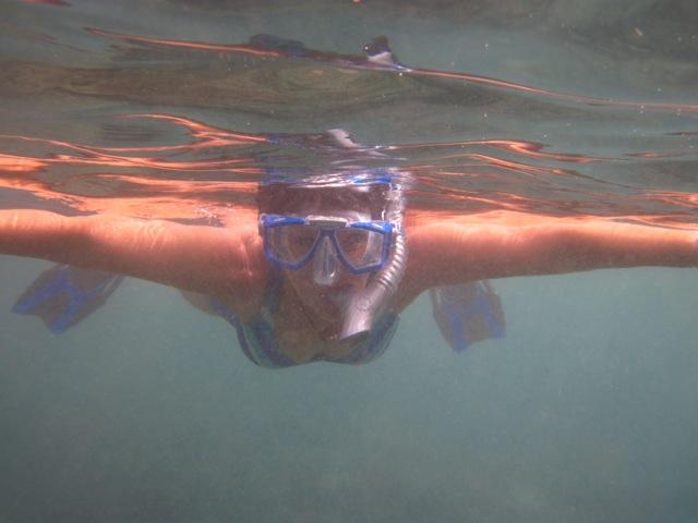 Pat snorkeling