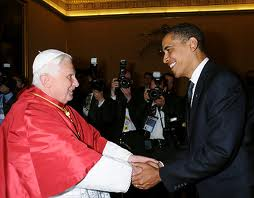 Obama Hand Shake With Pope