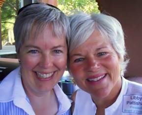 Emeritus board member Elizabeth Martin and board president Libby Pattishall