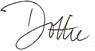 Dottie's signature